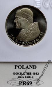 1000zł Papież Jan Paweł II 1982 GCN PR69