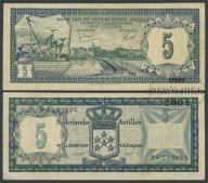 MAX - ANTYLE HOLENDERSKIE 5 Guldenów 1972 r # F/VF