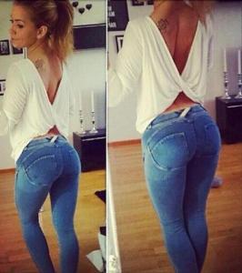 spodnie modelujące pośladki allegro