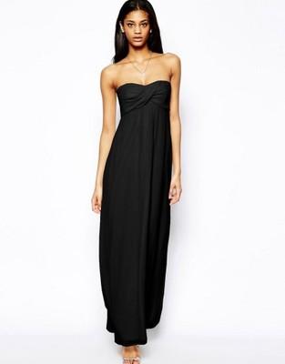 069f32222c155 38) ASOS/EKSKLUZYWNA czarna maxi długa sukienka - 6690083063 ...