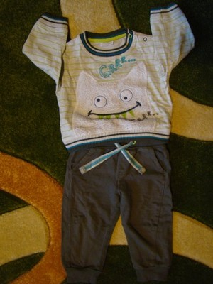 Dres: spodnie i bluza Cool Club r. 80 9-12 m-cy