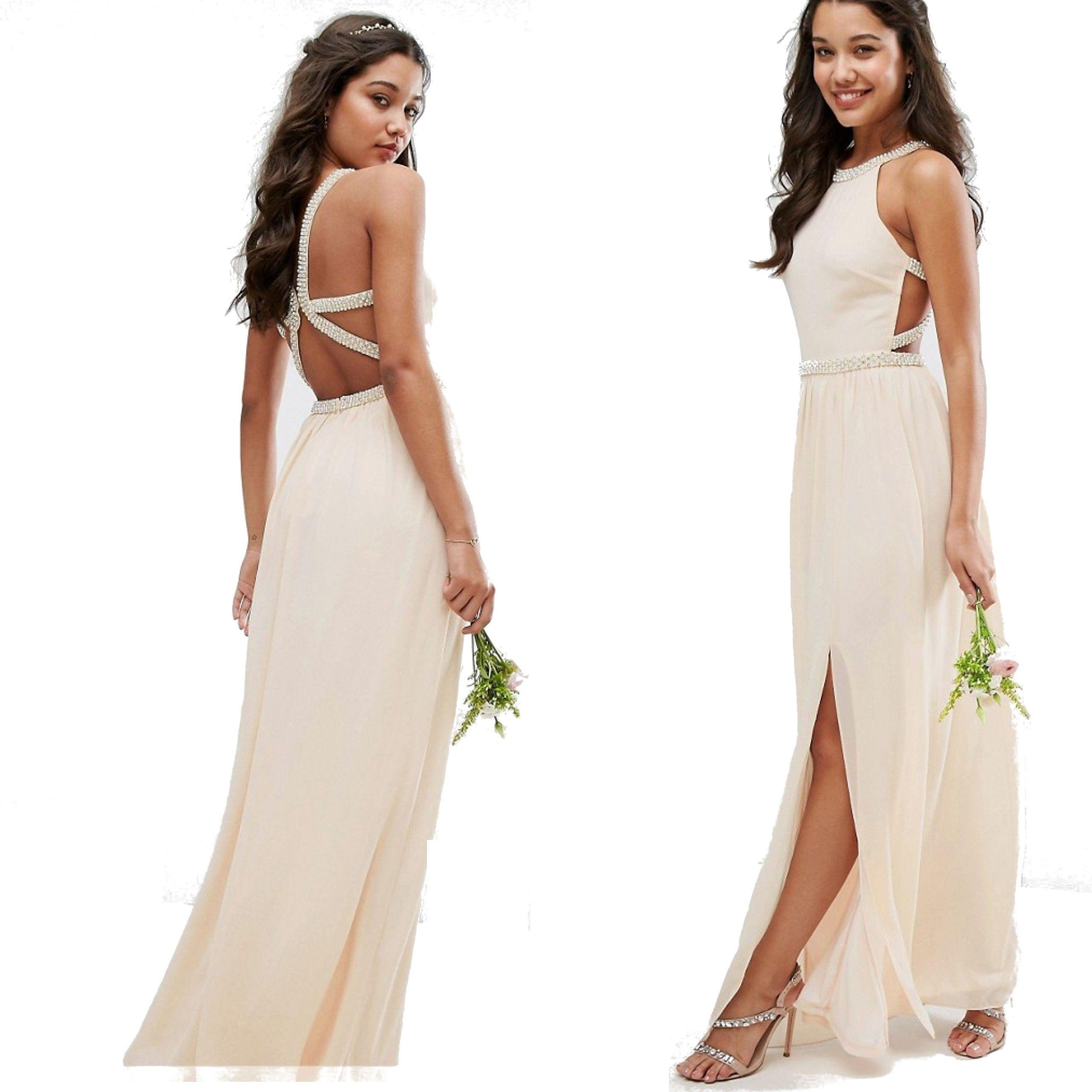 180335fd D7 TFNC bal ślub suknia nude cekiny XL 42 - 7014413025 - oficjalne ...