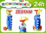 ZESTAW DO MINI GOLFA SUPER GRA GOLF + WÓZEK SIMBA