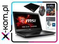 MSI GL72 i7-6700HQ 16GB 120SSD+1TB GF940MX +210zł