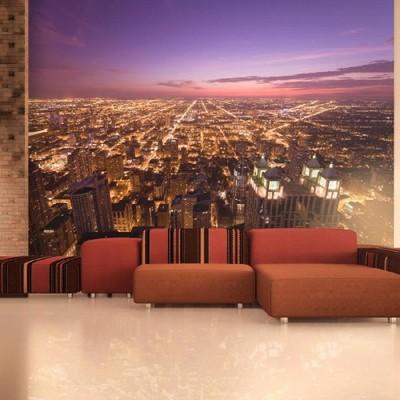 Fototapeta Amerykańskie Chicago nocą 400x309 48h