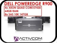 SERWER DELL POWEREDGE R900 QC 4xE7430 64GB 8X147GB