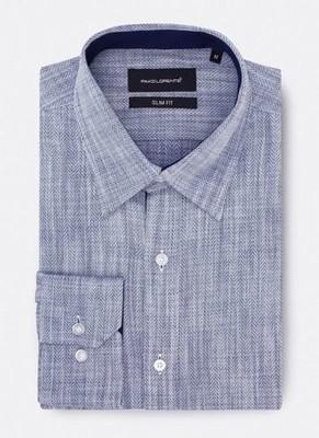 Pako Lorente - koszula męska PETER3, indygo, XL