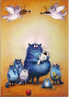 Niebieskie Koty Niemowlak Bajka Zeynuk Rosja 7070186458