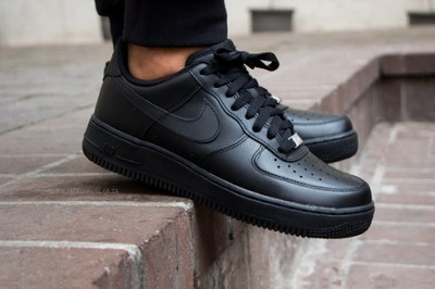 buty nike air force 1 low (gs) all black