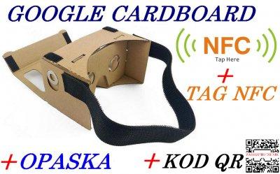 Google Cardboard Opaska Tag Nfc Okulary 3d Vr 6080386255
