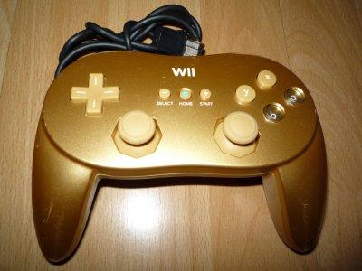 Oryginalny pad classic Wii Gold Zelda unikat
