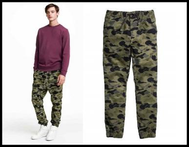bda364c06e4d4 H&M spodnie męskie joggersy moro r. 28 / S - 5723038999 - oficjalne ...