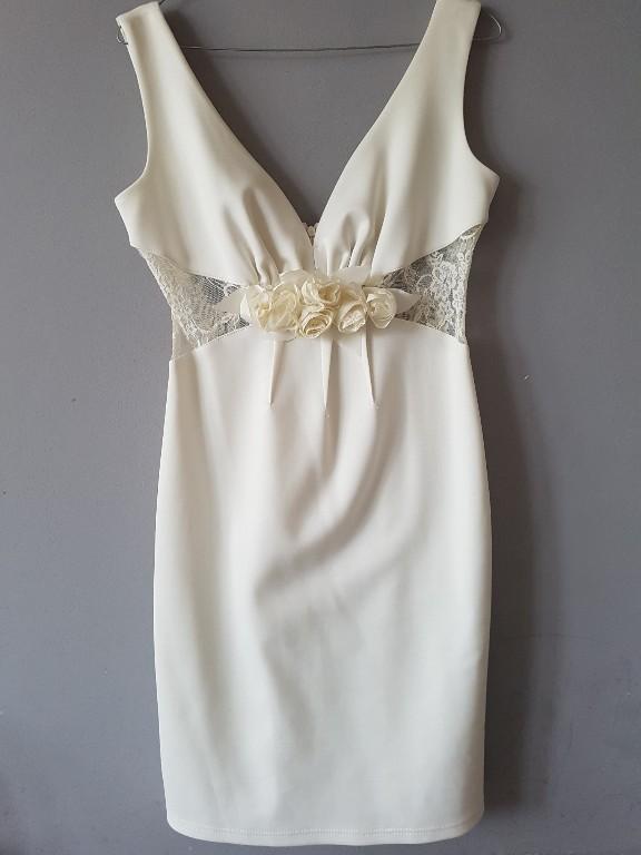 85f7eb2c7c Piękna biała sukienka rozmiar 38 - 7006637241 - oficjalne archiwum ...