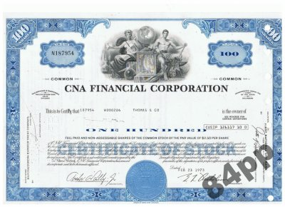 CNA Financial Corporation 1973