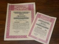 Obligacje - 2000, 2x 500 zł