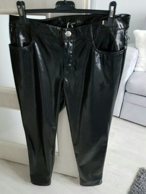 lateksowe spodnie zara