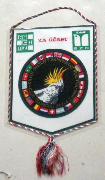 XXVIII Światowa Wystawa Ptaków-proporczyk CSSR1980