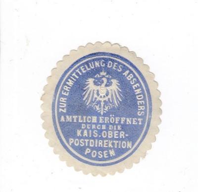 Zalepka - Poznań, Posen, Ober Postdirektion, -556
