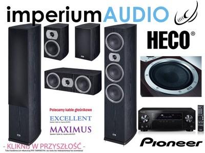 HECO VICTA PRIME 702 CZARNE + PIONEER VSX-830 5.0