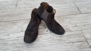 ECCO buty, półbuty,sztyblety, skóra, zamsz r.41