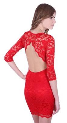 503e631085 ASOS koronkowa czerwona mini bez pleców 36 - 5998636793 - oficjalne ...