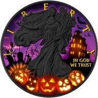1$ USA 2017 American Silver Eagle HALLOWEEN 1 Oz