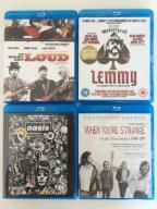 Lemmy, Oasis, Doors, Might Get Loud - 4x Blu Ray