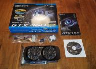 Gigabyte GeForce GTX 460 768MB GDDR5 komplet