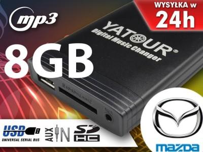 MP3 ZMIENIARKA SD USB MAZDA 2 3 5 6 323 CX-7 +8GB