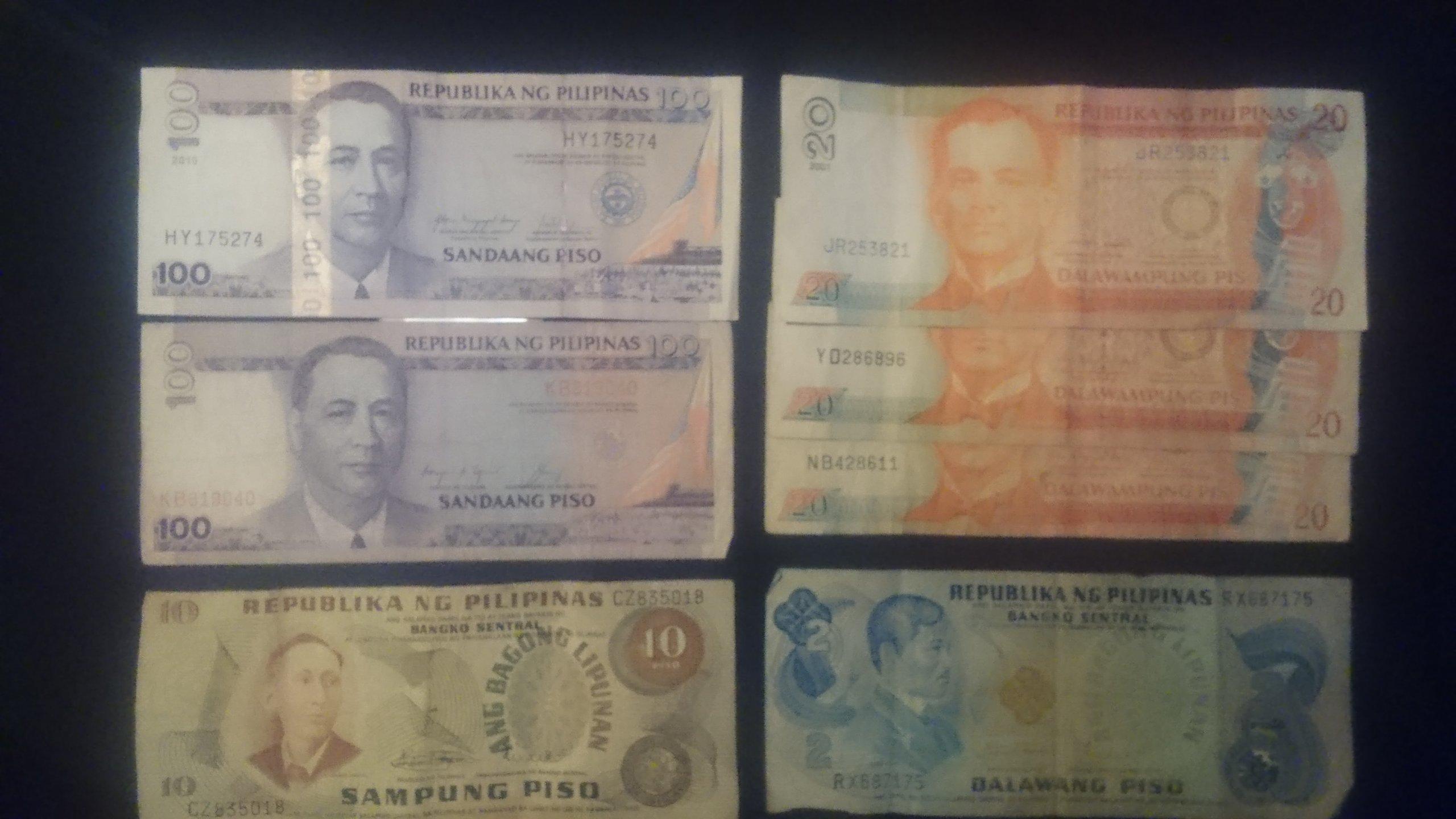 FILIPINY - Zestaw Banknoty 7szt 272PHP