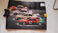 4 PIĘKNE PLAKATY SALONOWE BMW M1 E24 F1 MOTOSPORT