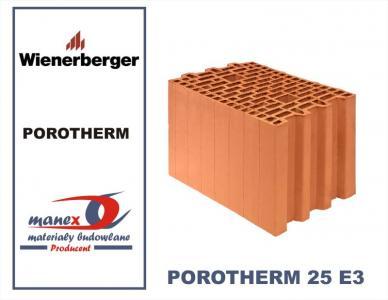 Cegla Max Pustak Porotherm 25 E3 Wienerberger 5642719615