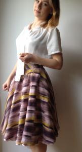 Spódnica tiulowa rozkloszowana z koła , pin up