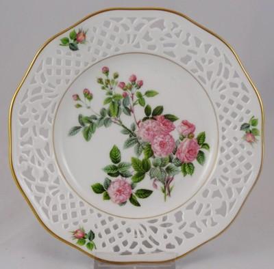 SCHUMANN ażurowy talerz dekoracyjny róże nr 7