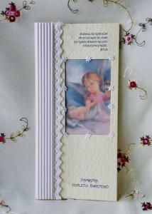 KARTKI NA CHRZEST PAMIĄTKA CHRZTU ręcznie robione
