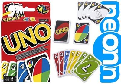 Mattel Gra Karciana Uno Karty W2087 6529966582 Oficjalne