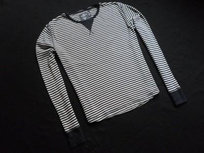 LOGG H&M koszulka bluza paski granat beż_____L