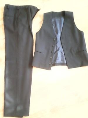 Kamizelka i spodnie wizytowe