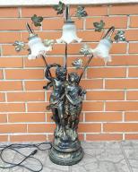 Lampa duża ozdobna elektryczna rzeźba posąg klosze