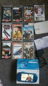 PSP 3004 10 gier vibrant blue 2gb