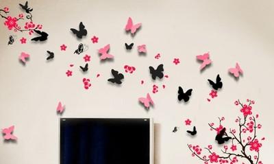 Naklejki Na ścianę 3d Motyle Sticker 6589756550