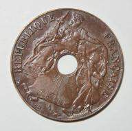 INDOCHINY FRANC. 1 CENT 1939 OD 1 ZŁ