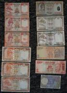 NEPAL INDIE zestaw banknotów Everest Gandhi !!!