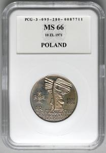 4854. 10 zł 1971 50 rocz. Pow. Śląsk. w opakow PCG