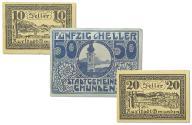 22.cp.Gmunden, Zest.Banknotów szt.3, St.2/3+