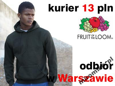 bluza fruit of the loomz kapturem czarna
