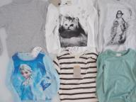 Zestaw komplet ZARA H&M bluzeczki NOWE 110 116