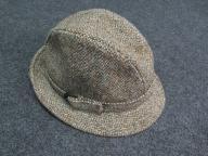 23PZ* HARRIS TWEED zielony z paseczkiem hat___57cm