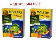 Mollers Żelki Rybki Pomarańczowe 72+18 GRATIS Tran