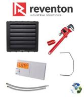 Nagrzewnica wodna REVENTON HC45, 43,3kW ZESTAW 5w1